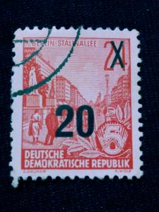 Forever Philately Germany #198c used vf. (Surcharges overprint)