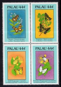 Palau 186a Butterflies MNH VF