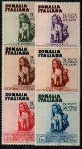 Somalia Scott 164-9 Mint hinged (Catalog Value $24.00)