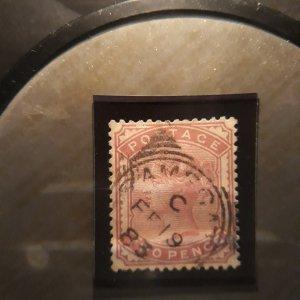 GB 81 2 p lilac rose 1880 vf used