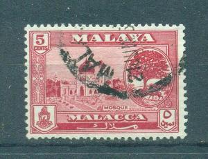 Malaya - Malacca sc# 59 used cat value $.25