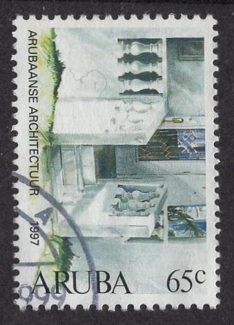 Aruba   #148   used  1997 buildings  65c