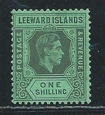 Leeward Islands 111a 1938-51 1sh KGVI MLH Gum Distubance