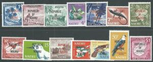NAURU 1968 REPUBLIC overprint definitive set MNH...........................66079