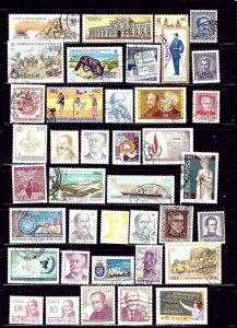 Chile #1 39 Different; mostly used; few unused