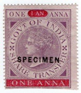 (I.B) India Revenue : Share Transfer 1a (specimen)
