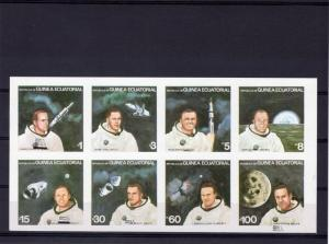 Equatorial Guinea 1979 Astronauts series with mistakes corrected (8) Imperf.