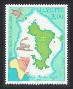 Mayotte Map of Mayotte 1v SG#86