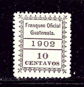 Guatemala O4 MH 1902 issue