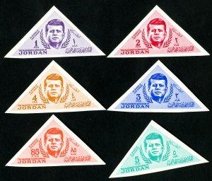 Jordan Stamps # 457-62 XF Imperforate OG NH Scott Value $18.50