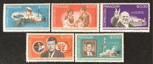 Paraguay 1965 # 887-91, MNH, CV $1.50
