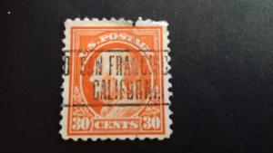 United States  Benjamin Franklin 30c Used as shown