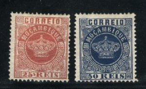 Mozambique #6,11 Mint 1877-85 PD