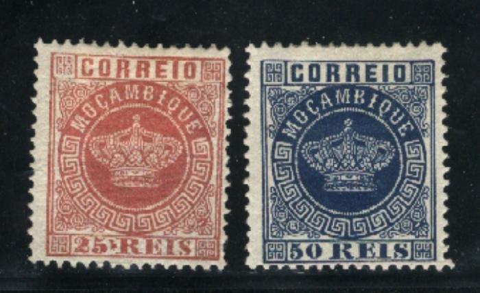 Mozambique #6,11 Mint 1877-85 PD