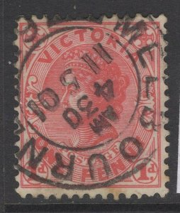 VICTORIA SG385ba 1902 1d DULL RED USED