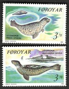 1992 Faroe Islands 235-236 Sea fauna 3,00 €