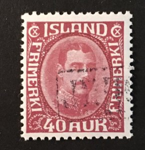 Iceland Sc. #184, used, revenue cancel