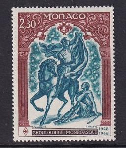 Monaco  #682   MNH  1968  Red Cross Monaco 20 years .  St Martin