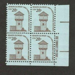1604 Fort Nisqually, Washington Zip Block Mint/nh FREE SHIPPING