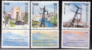 ISRAEL Scott 1084-1086 MNH** 1991 Electrification set with tabs