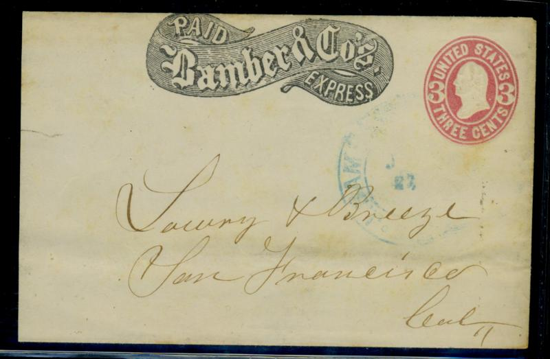 US Bamber & Co Express Cover F-VF RARE EstVal$100+