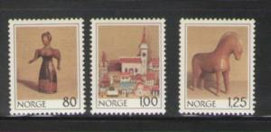 Norway Sc 738-40 1978 Christmas stamp set mint  NH