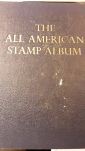 Minkus-I All American 2 Post Binder and 1,000's of stamps Unused & Used CV~$500