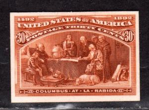 $US Sc#239p4 M/XLH/XF, Plate Proof on card, Cv. $100