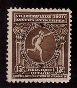 Belgium Scott B50 MH* semi postals 1920 Olympic stamp cv$3
