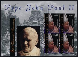 St Kitts 785 sheet MNH Pope John Paul II