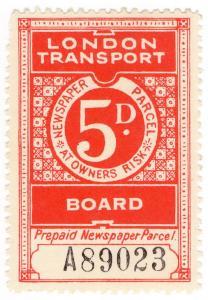 (I.B) London Transport Board : Railway Newspapers 5d