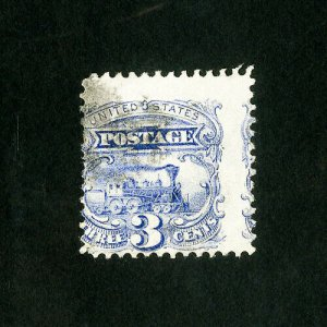 US Stamps # 114 Strong shift error w/ partial on right used