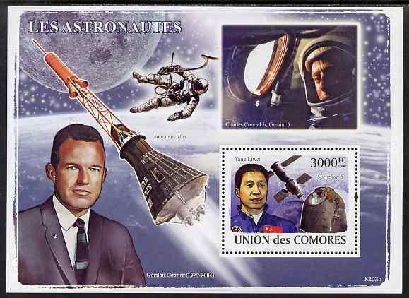 Comoro Island MNH S/S Astronauts Space 2009