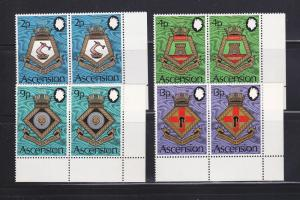 Ascension 166-169 Pairs Set MNH Coats Of Arms (B)