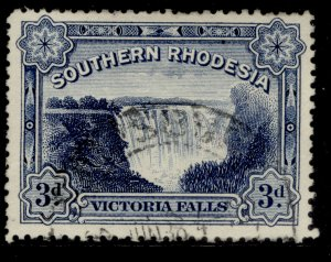 SOUTHERN RHODESIA GV SG35b, 3d deep blue, FINE USED.