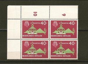 Netherlands Antilles 252 St Maarten Block of 4 MNH