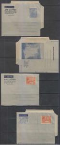 BC BRITISH GUIANA 1952-53 PS H&G FG8-FG10 THREE AEROGRAMMES UNUSED VF