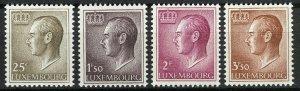 Luxembourg 1966 MNH Stamps Scott 418-425 Grand Duke