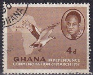 Ghana #3 F-VF Used (SU7843)