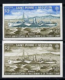 St Pierre & Miquelon 1971 French Naval Patrol Vessels...