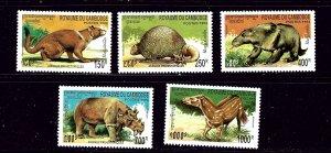 Cambodia 1359-63 MNH 1994 Prehistoric Animals