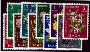 Macau SC#372-381  MNH VF SCV$33.20...Worth a Close Look!