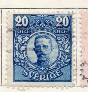Sweden 1910-11 Early Issue Fine Used 20ore. 143434
