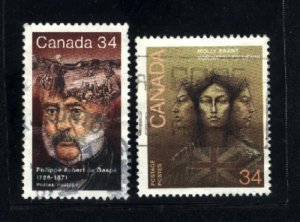 Can #1090-91   -3   used VF 1986 PD
