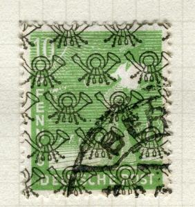 GERMANY; BERLIN Allied Zone 1948 Optd. II on First June issue used 10pf. value