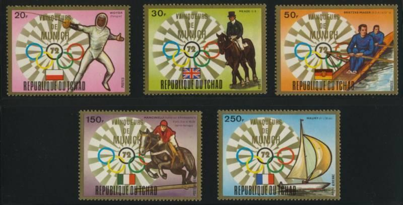 Chad 285-7,C151-2 MNH Olympic Sports, Equestrian, Horse