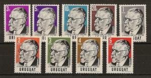 Uruguay 1960 Martinez SG1129-1137 MNH