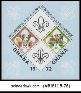 GHANA 1972 65th ANNIVERSARY OF THE INTERNATIONAL BOY SCOUT MOVEMENT MIN/SHT MNH