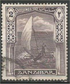 ZANZIBAR, 1936, used 2sh, Dhow Scott 210