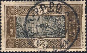 DAHOMEY - 1916 -  CAD DOUBLE CERCLE GRAND-POPO / DAHOMEY SUR N°52